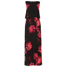 Buy Phase Eight Ali Floral Printed Maxi Dress, Black/Hot Pink Online at johnlewis.com