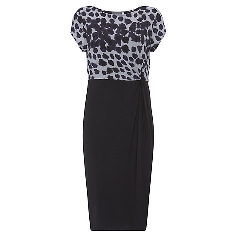 Buy Mint Velvet Frances Print Knot Front Dress, Multi Online at johnlewis.com