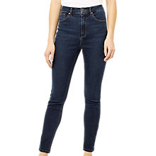 Buy Warehouse Powerhold Skinny Jeans, Dark Denim Online at johnlewis.com
