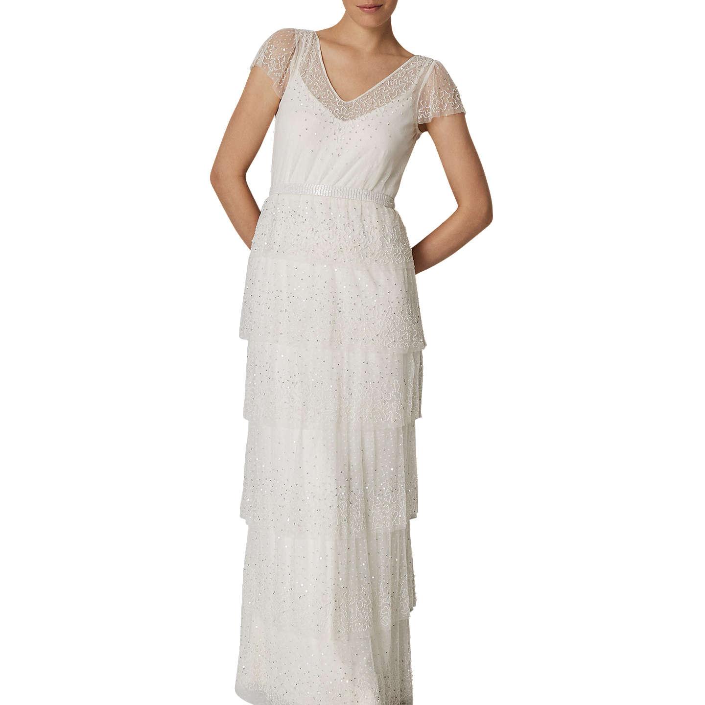 Phase Eight Bridal Nyelle Layered Wedding Dress, Cream