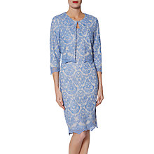 Buy Gina Bacconi Vera Embroidered Dress, China Blue Online at johnlewis.com