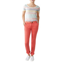 Buy Pure Collection Washed Cotton Chino Trousers Online at johnlewis.com