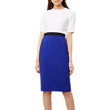 Buy Hobbs Adela Dress, Ivory/Cobalt Online at johnlewis.com