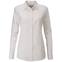 Buy Pure Collection Linen Shirt, Ivory/Black Online at johnlewis.com