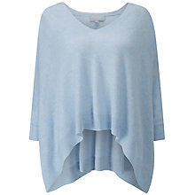Buy Pure Collection Cashmere Poncho Jumper, Heather Sky Online at johnlewis.com