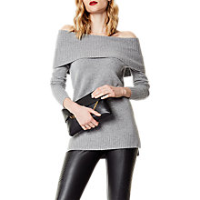 Buy Karen Millen Slouchy Bardot Knit Jumper, Grey Online at johnlewis.com