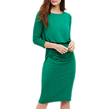 Buy Phase Eight Rebecca Ruched Skirt Dress, Malachite Green Online at johnlewis.com