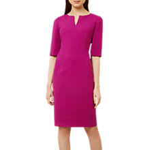Buy Hobbs Eimear Short Sleeve Dress, Magenta Online at johnlewis.com