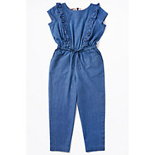 Buy Jigsaw Girls' Chambray Jumpsuit, Navy Online at johnlewis.com