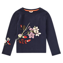 Buy Jigsaw Girls' Floral Embroidery Jumper Online at johnlewis.com