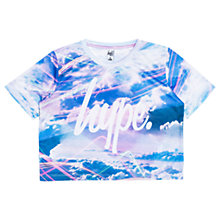 Buy Hype Girls' Cloud Print T-Shirt, Blue Online at johnlewis.com