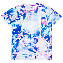 Buy Hype Girls' Floral Paint T-Shirt, Blue Online at johnlewis.com