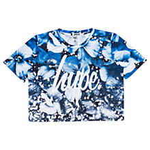 Buy Hype Girls' Cropped Crew Neck Floral Top, Blue Online at johnlewis.com