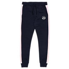 Buy Hype Girls' Colour Block Joggers, Navy/Pink Online at johnlewis.com