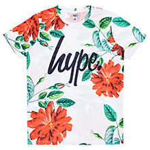 Buy Hype Girls' Floral T-Shirt, White Online at johnlewis.com