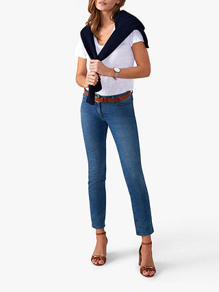 Buy Pure Collection Cropped Jeans, Mid Wash, 8 Online at johnlewis.com