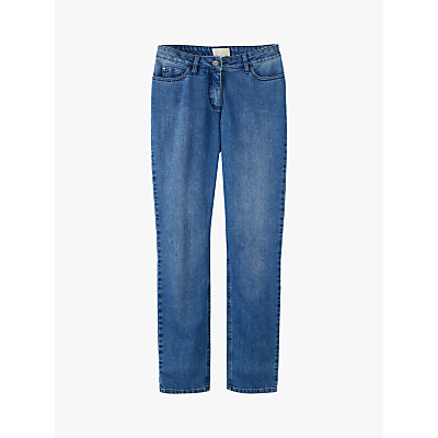 Pure Collection Cropped Jeans, Mid Blue