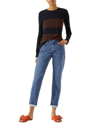 Jigsaw Hampton Super Soft Jeans, Mid Blue