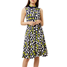 Buy Hobbs Belinda Dress, Navy/Chartreuse Online at johnlewis.com