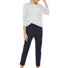 Buy Mint Velvet Compact Carpi Trousers, Dark Blue Online at johnlewis.com