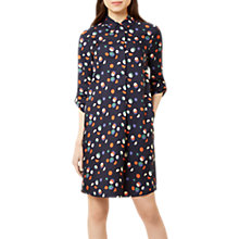 Buy Hobbs Marci Shirt Dress, Navy/Multi Online at johnlewis.com