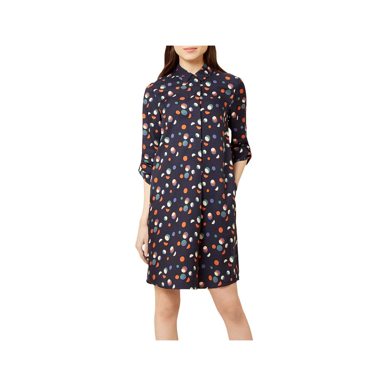 Hobbs Marci Shirt Dress, Navy/Multi at John Lewis