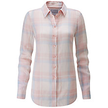 Buy Pure Collection Check Cotton Shirt, Pastel Online at johnlewis.com