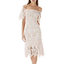 Buy Coast Tanya Lace Shift Dress, White Online at johnlewis.com