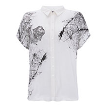 Buy Mint Velvet Rene Print Oversized Shirt, Multi Online at johnlewis.com