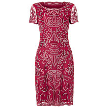 Buy Phase Eight Talia Embroidered Dress, Cranberry Online at johnlewis.com