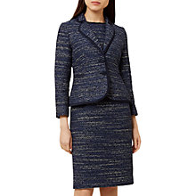 Buy Hobbs Nikita Jacket, Navy/Multi Online at johnlewis.com