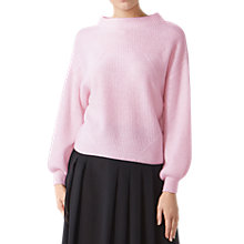 Buy Pure Collection Gassato Cashmere Voluminous Jumper, Rose Mist Online at johnlewis.com