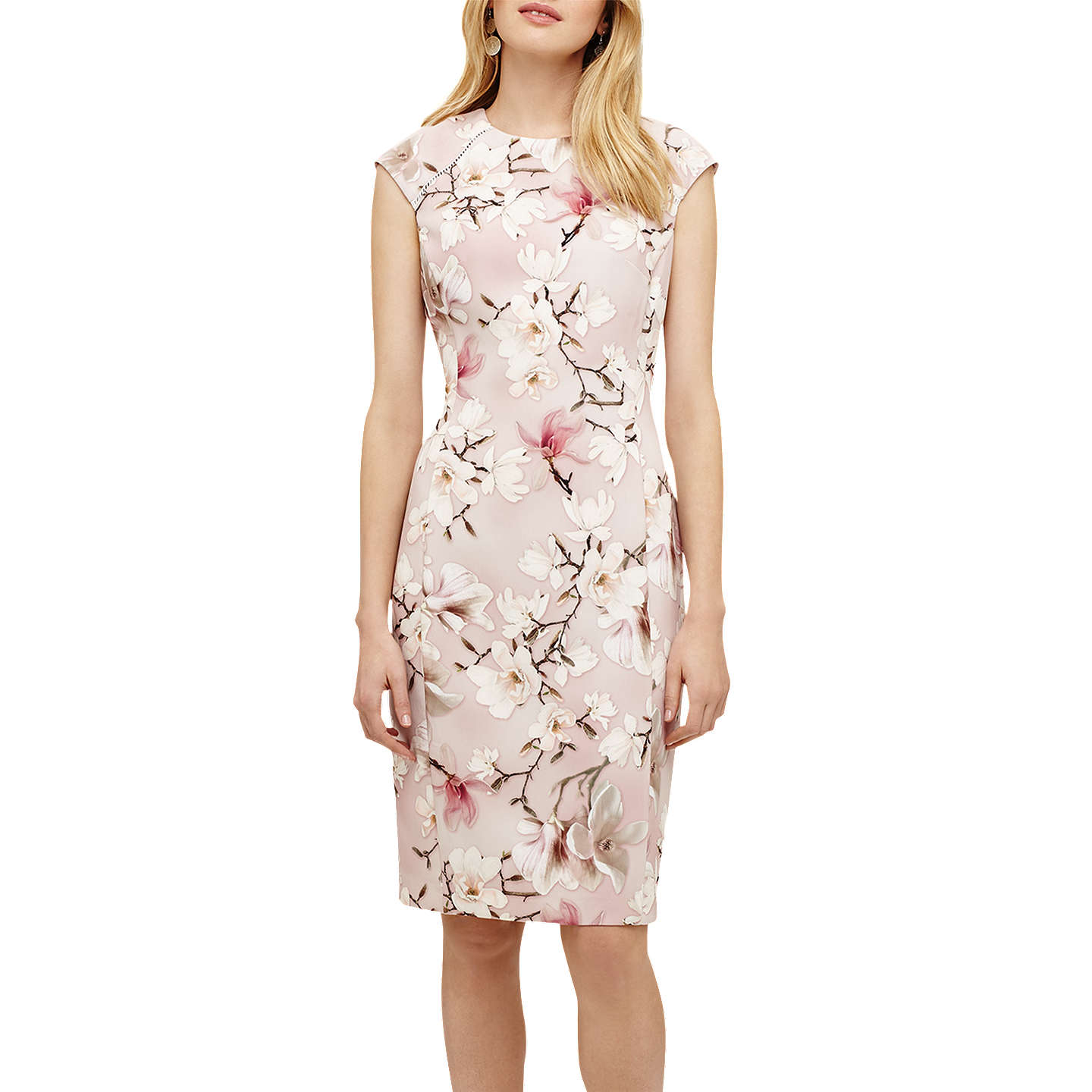BuyPhase Eight Odette Floral Dress, Rose Pink, 6 Online at johnlewis.com