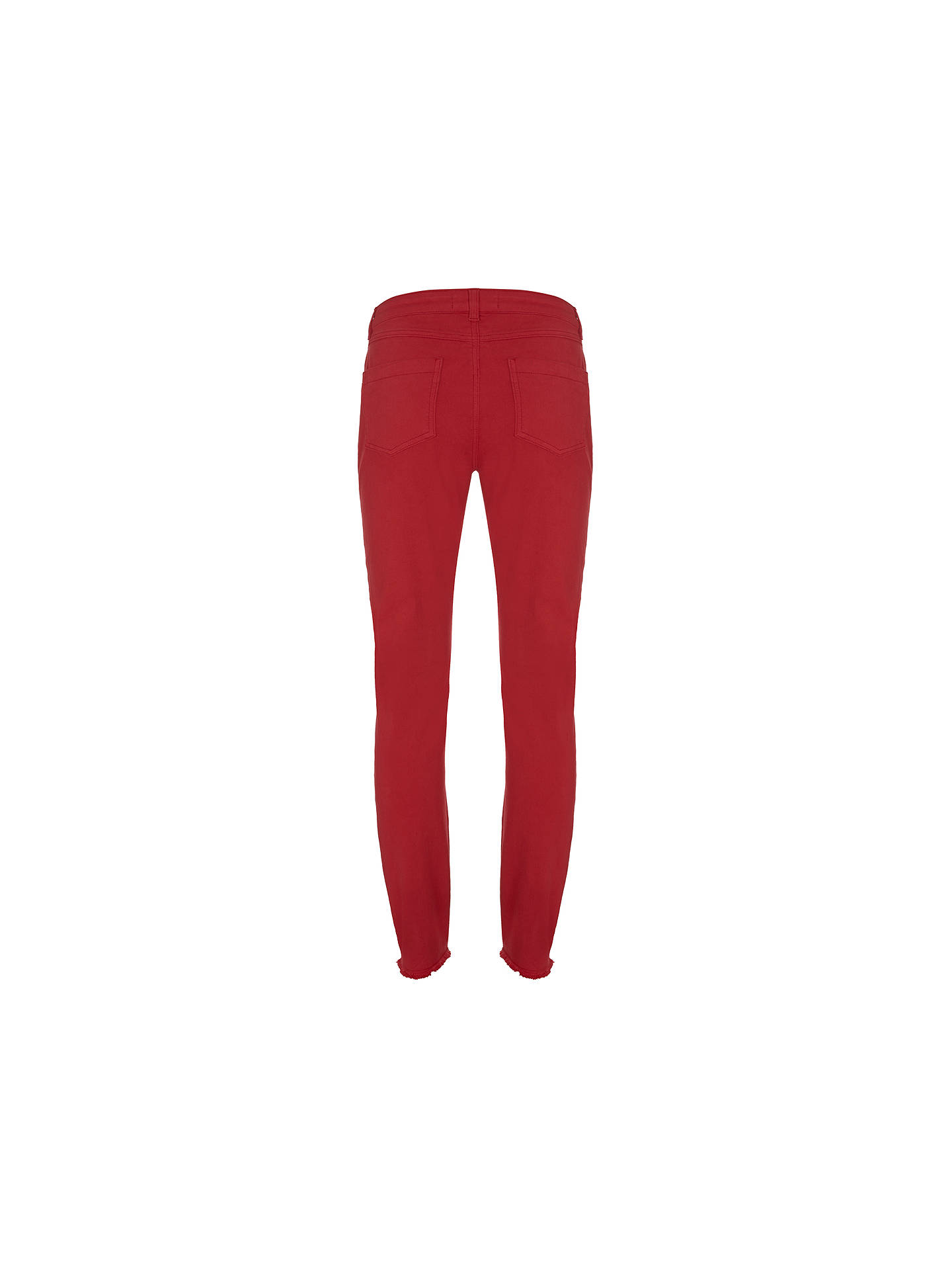 BuyMint Velvet Paxton Skinny Jeans, Red, 6L Online at johnlewis.com