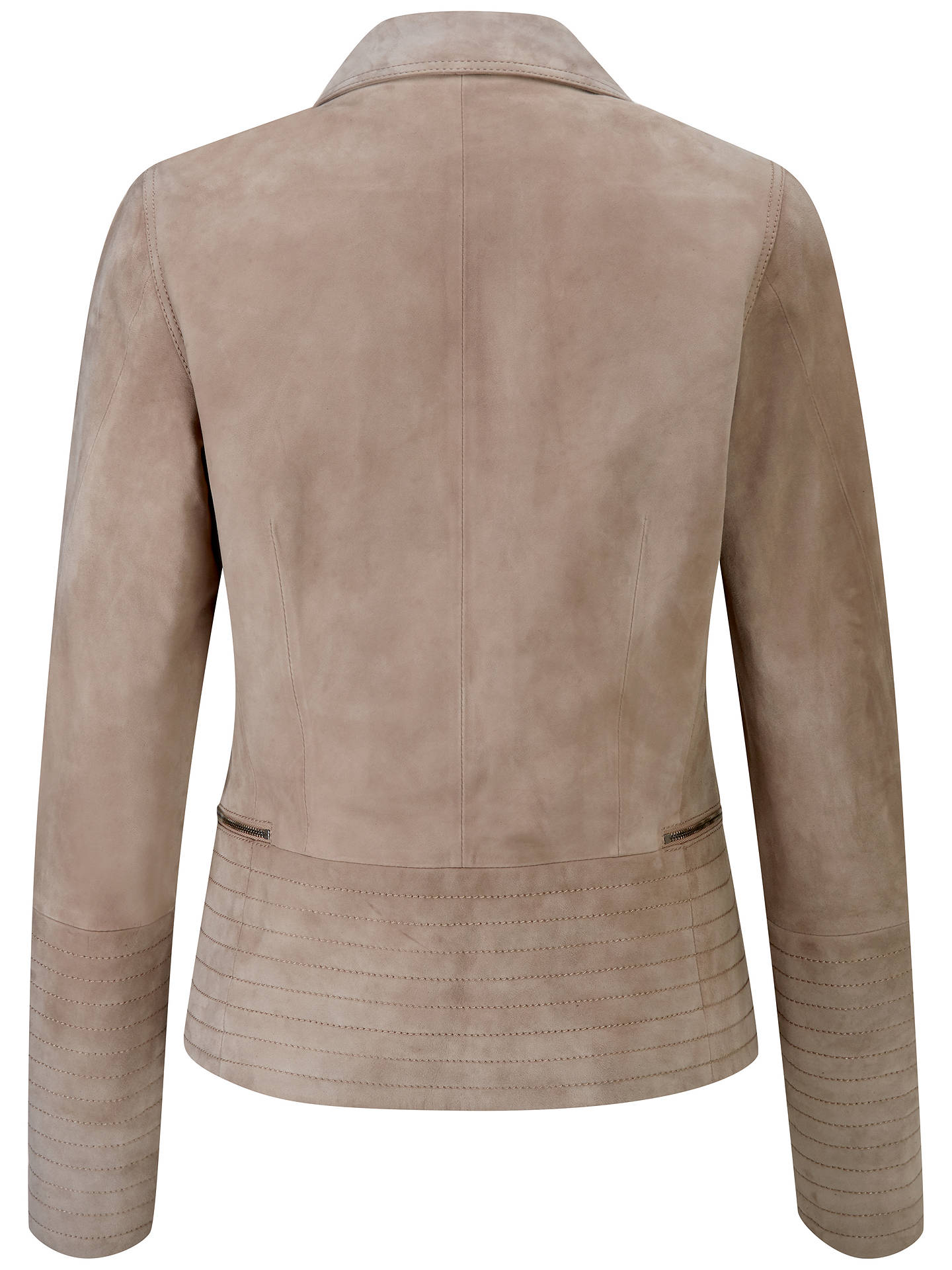 BuyPure Collection Suede Biker Jacket, Soft Taupe, 8 Online at johnlewis.com