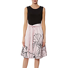Buy Gina Bacconi Eleanora Satin and Jersey Dress Online at johnlewis.com