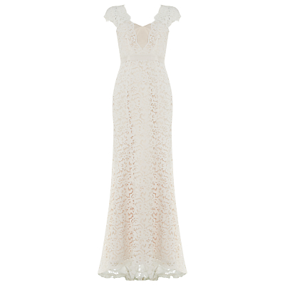 Phase Eight Maegen Lace Bridal Dress, Snow