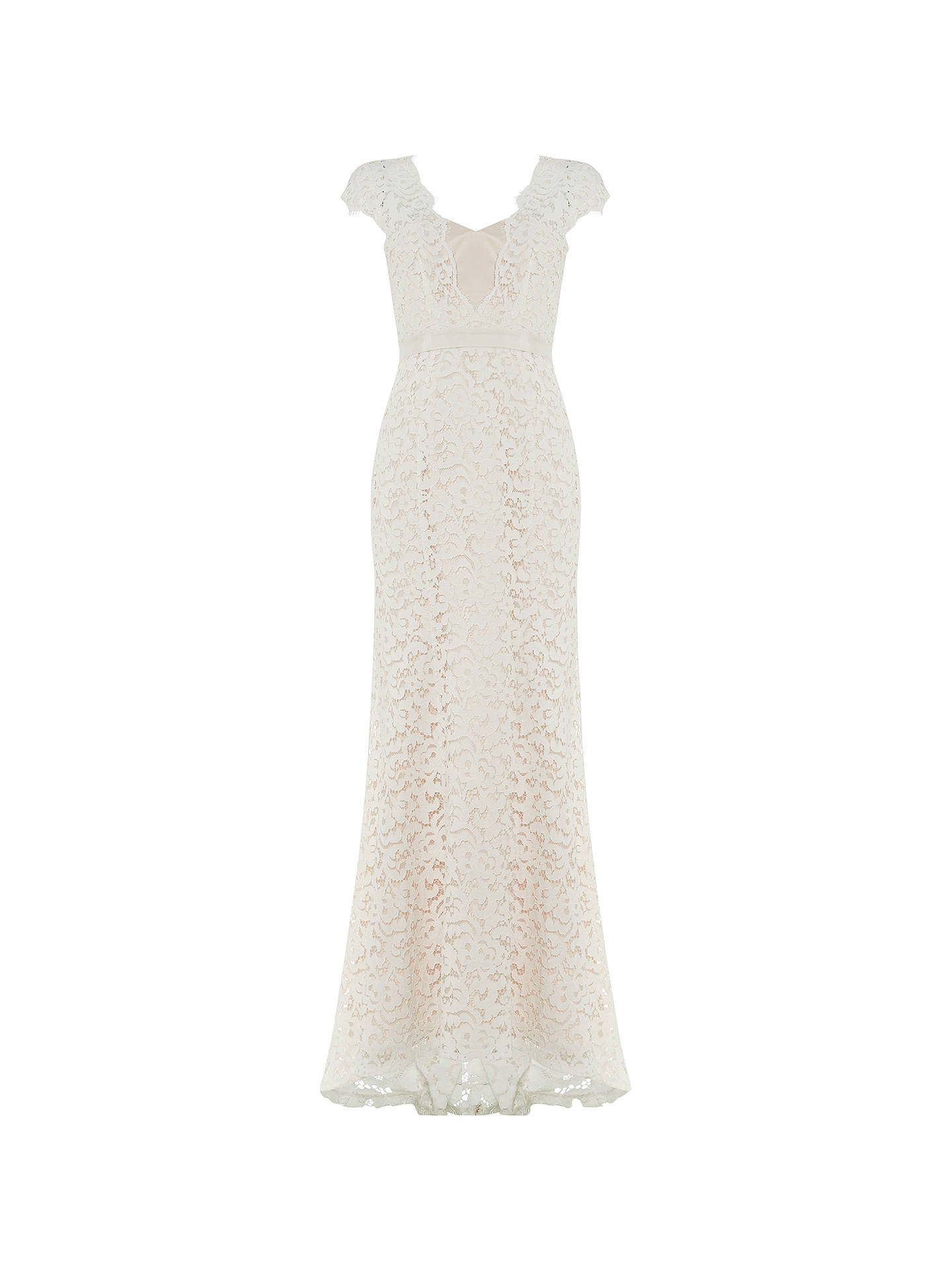 Buy Phase Eight Maegen Lace Bridal Dress, Snow, 8 Online at johnlewis.com