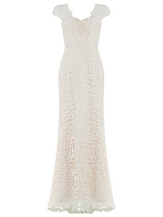 Phase Eight Maegen Lace Bridal Dress, Snow