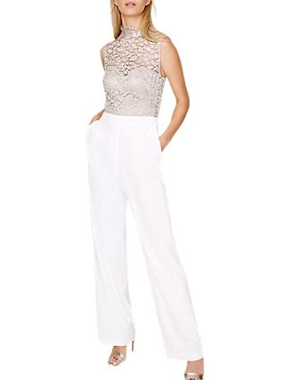 Damsel in a Dress Eira Animal Lace Jumpsuit, Champagne
