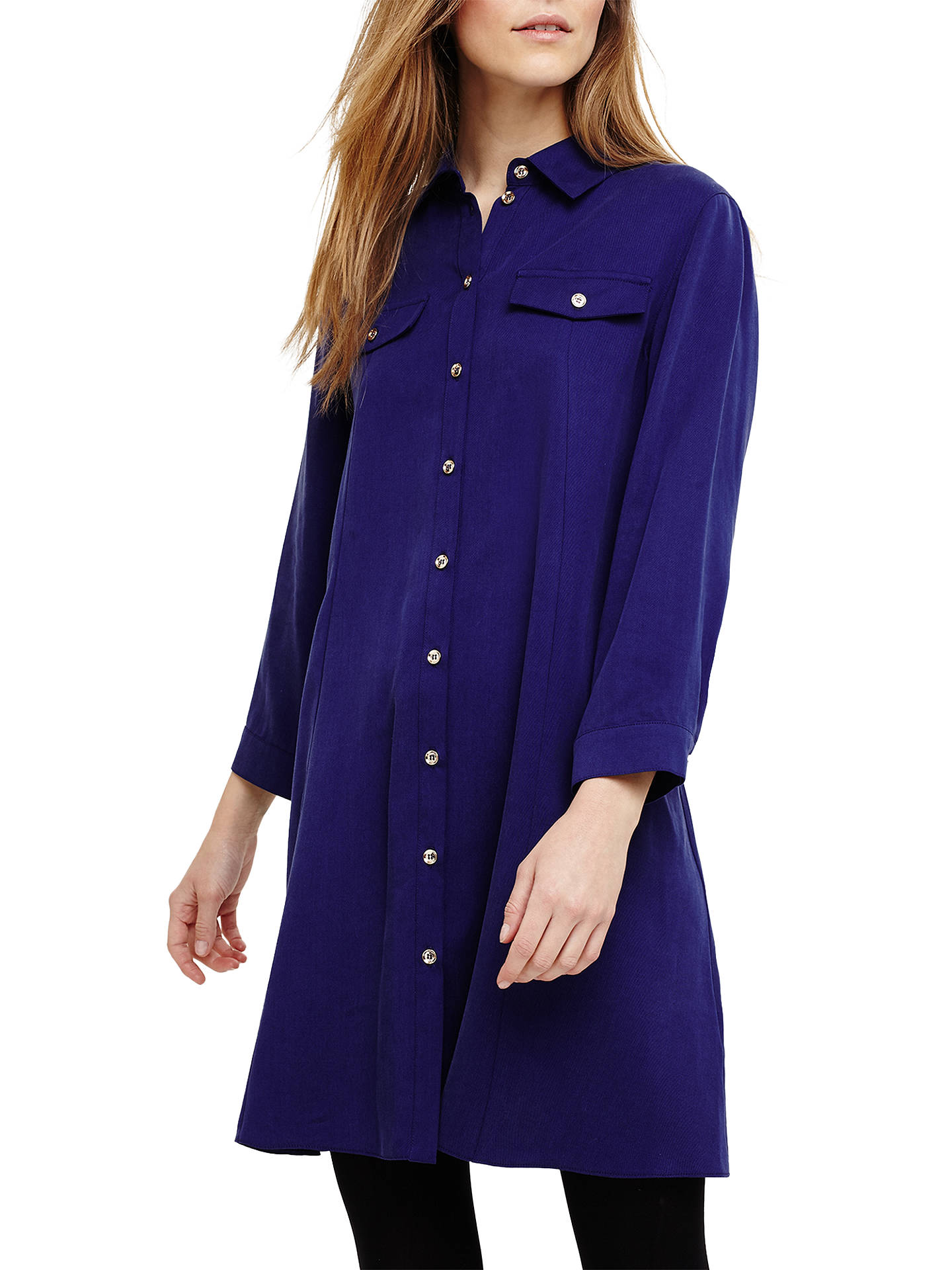 df0f6479 Buy Phase Eight Montana Shirt Dress, Sapphire Blue, 12 Online at  johnlewis.com ...