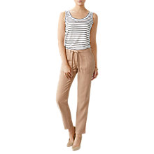 Buy Pure Collection Pocketed Tapered Trousers, Warm Stone Online at johnlewis.com