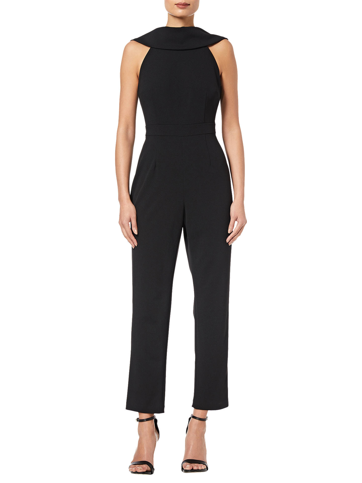 BuyAdrianna Papell Petite Crepe Jumpsuit, Black, 6 Online at johnlewis.com