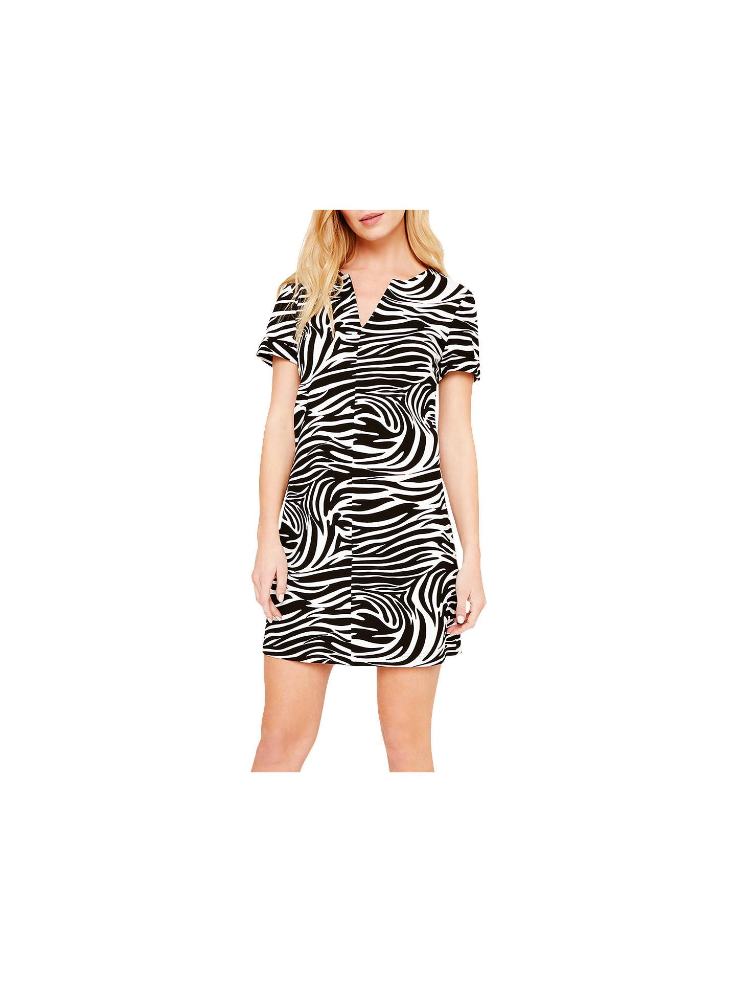 ddeb31d1fc1 Buy Damsel in a Dress Zebra Print Tunic Dress, Black/White, 8 Online ...