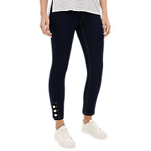 Buy Phase Eight Billie Button Hem Jeans, Blue Denim Online at johnlewis.com