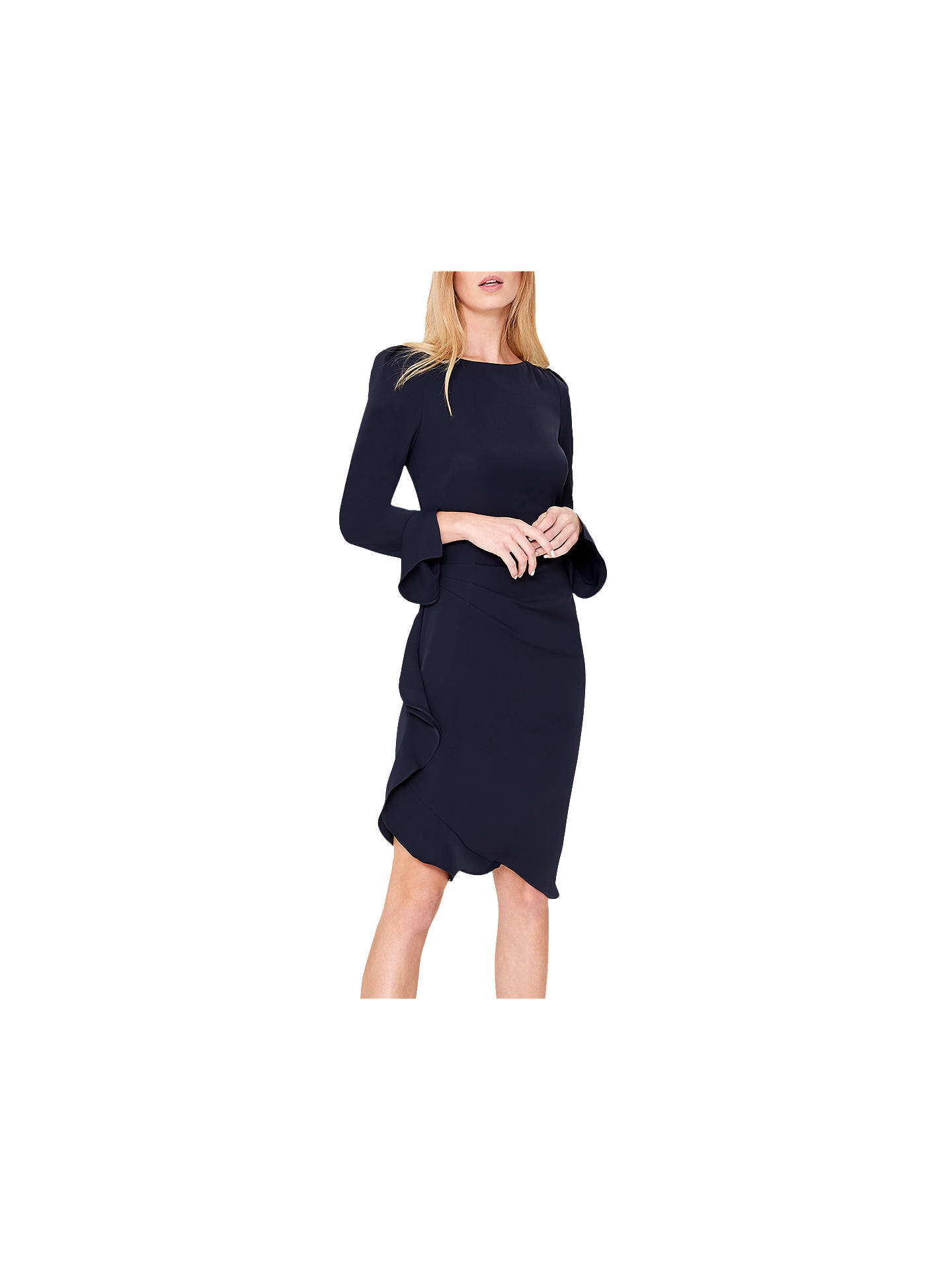 3196bd35ff0 Buy Damsel in a Dress Carrera Frill Tunic Dress, Navy, 14 Online at  johnlewis ...