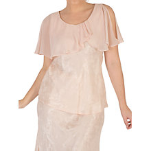 Buy Chesca Chiffon Cape Trim Top, Blush Online at johnlewis.com
