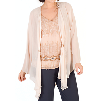 Chesca Beaded Tab Shrug