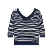 Buy Gerard Darel Flocon Pure Cotton Striped Jumper, Blue Online at johnlewis.com