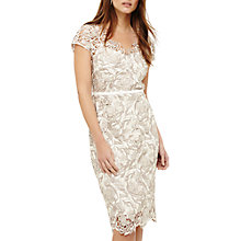 Buy Phase Eight Lottie Lace Dress, Cream Oyster Online at johnlewis.com